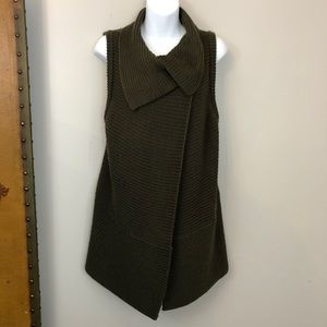 Olive green CHICO'S sweater vest wrap 1
